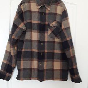 Billabong Men's Lined Plaid Coat XL